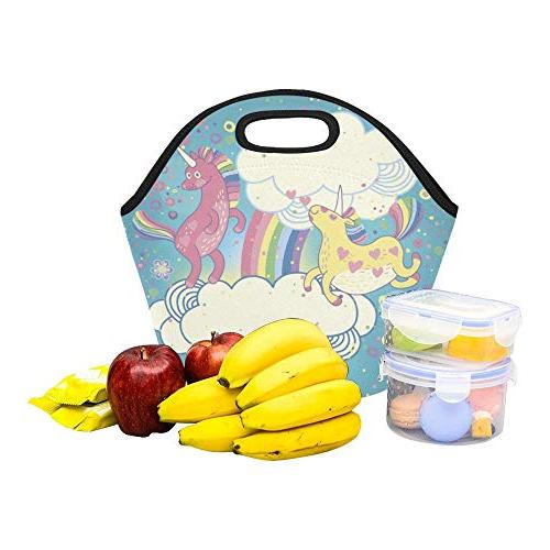 Insulated Cute Rainbow The Reusable Thermal Tote Bags For Boxes Outdoors,work, Office, School