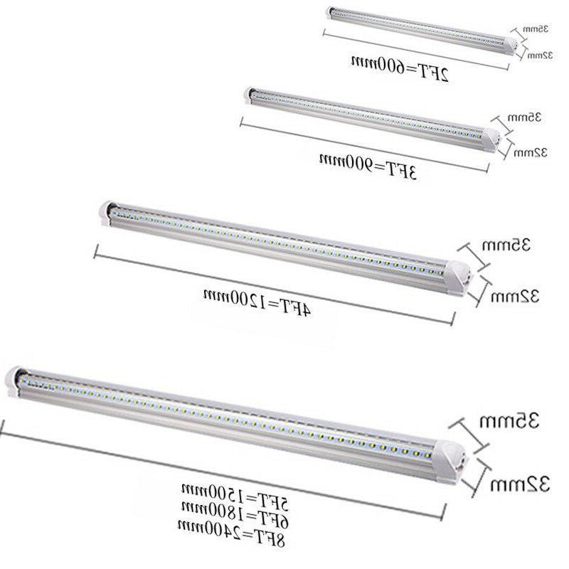 120W 8FT LED Light V Shaped COOLER/FREEZER