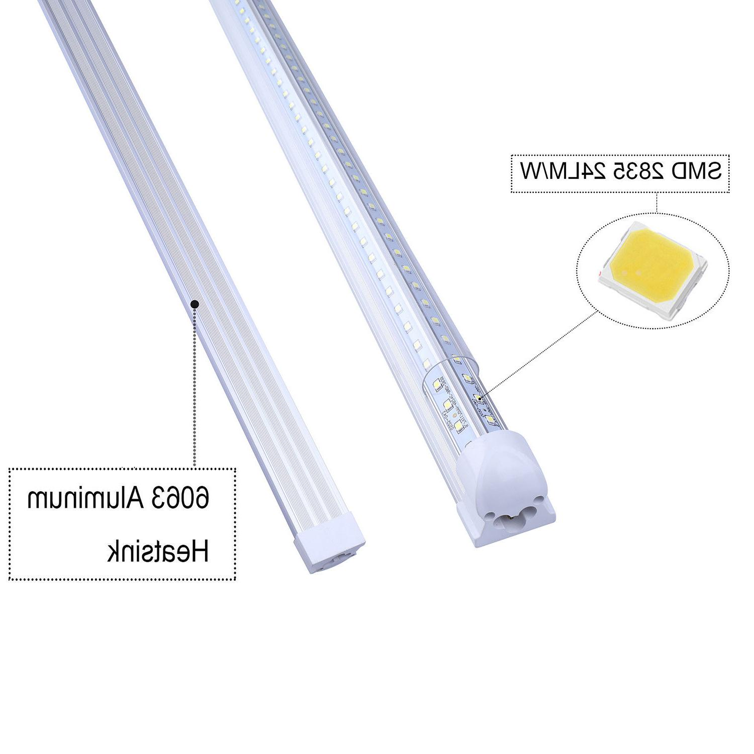 120W 8FT Integrated LED Tube Light V Shaped COOLER/FREEZER Shop Light