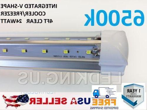 integrated v shape 4ft 24w 6500k clear