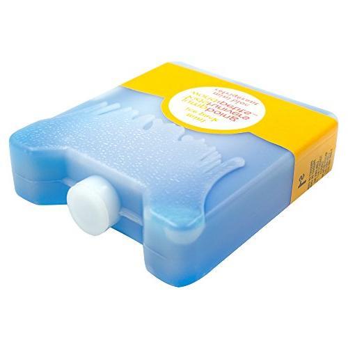 WORLD-BIO PCS Cooler Ice Packs, Premium Lunch Slim Pad, Long-Lasting Freeze Kids Keep Fresh in Sandwich Mini Box Pack