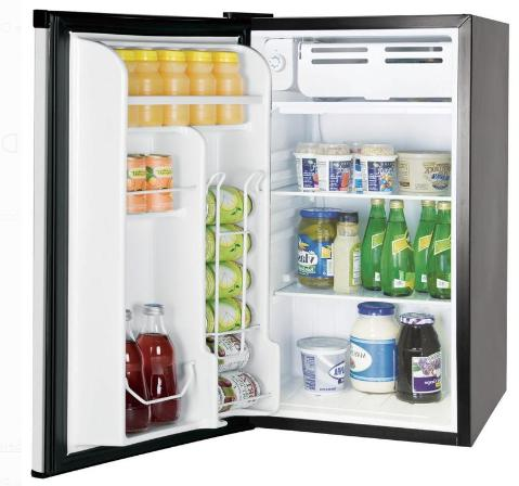 Mini Cu Ft Single Door With Freezer, Stainless