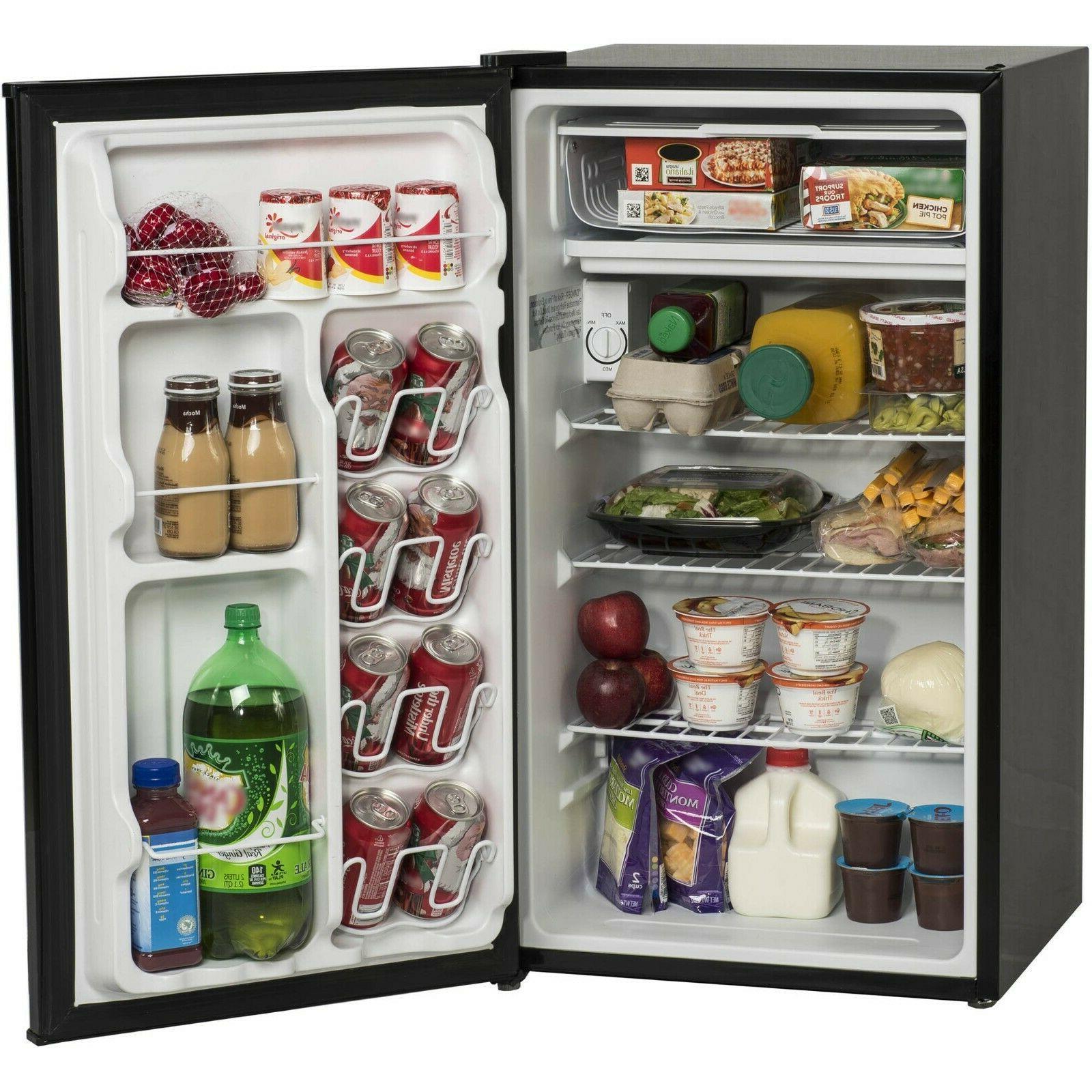 3.2 Cu Ft Mini Fridge Freezer 2-Door Compact Refrigerator Bl