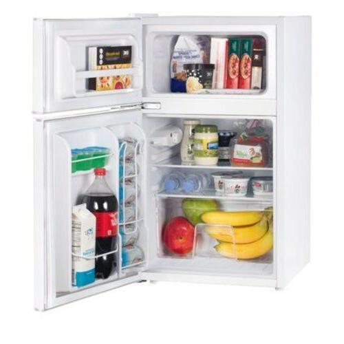 Mini Fridge 2 Door Personal Compact Refrigerator Two Home Cu