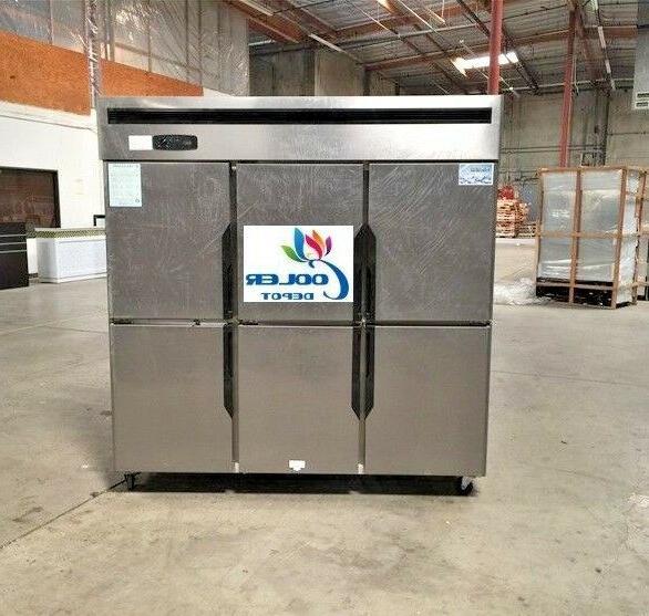new 6 door commercial freezer 72 x