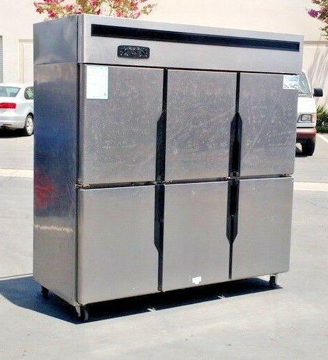 NEW Commercial 6 Refrigerator Freezer Combo Restaurant