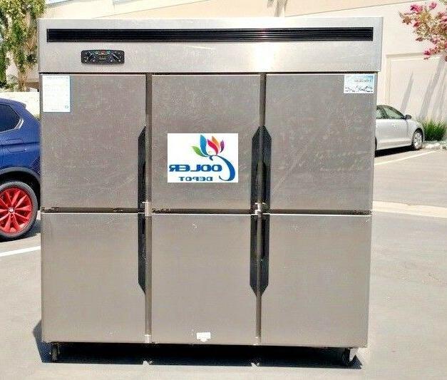 new commercial 6 door refrigerator freezer combo