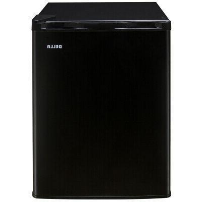NEW Dorm Refrigerator Freezer Cu Black Fridge Cooler