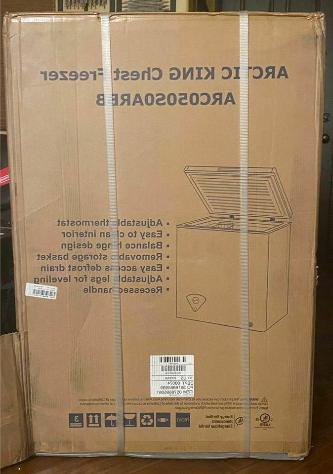 new sealed box 5 cu ft chest