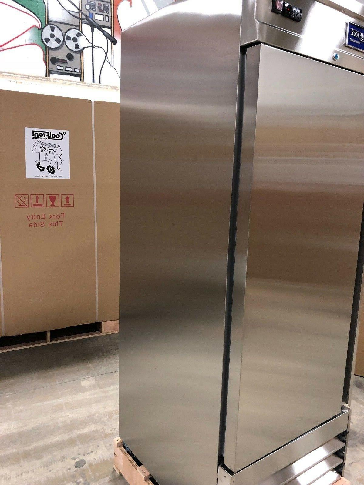 NEW Single 1 Door Upright Commercial Stainless FREEZER Cu