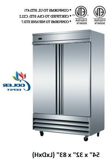 nsf two door freezer kf 49b commercial