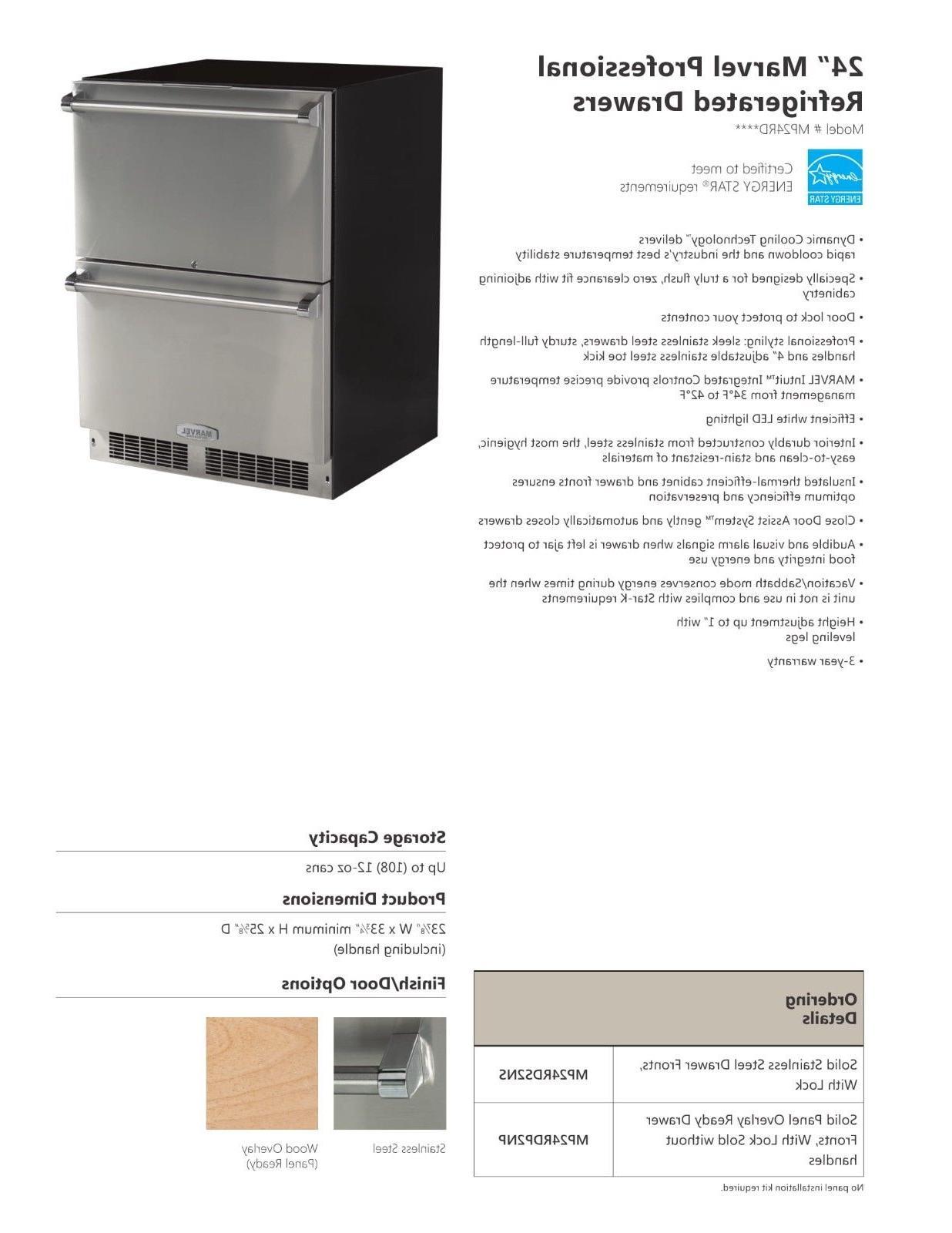 """Marvel 24"""" Refrigerator MP24RDS2NS"""