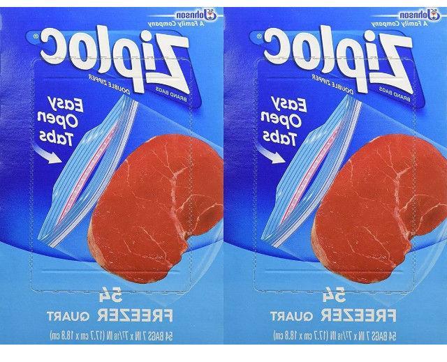 quart freezer bags 54 count quart pack