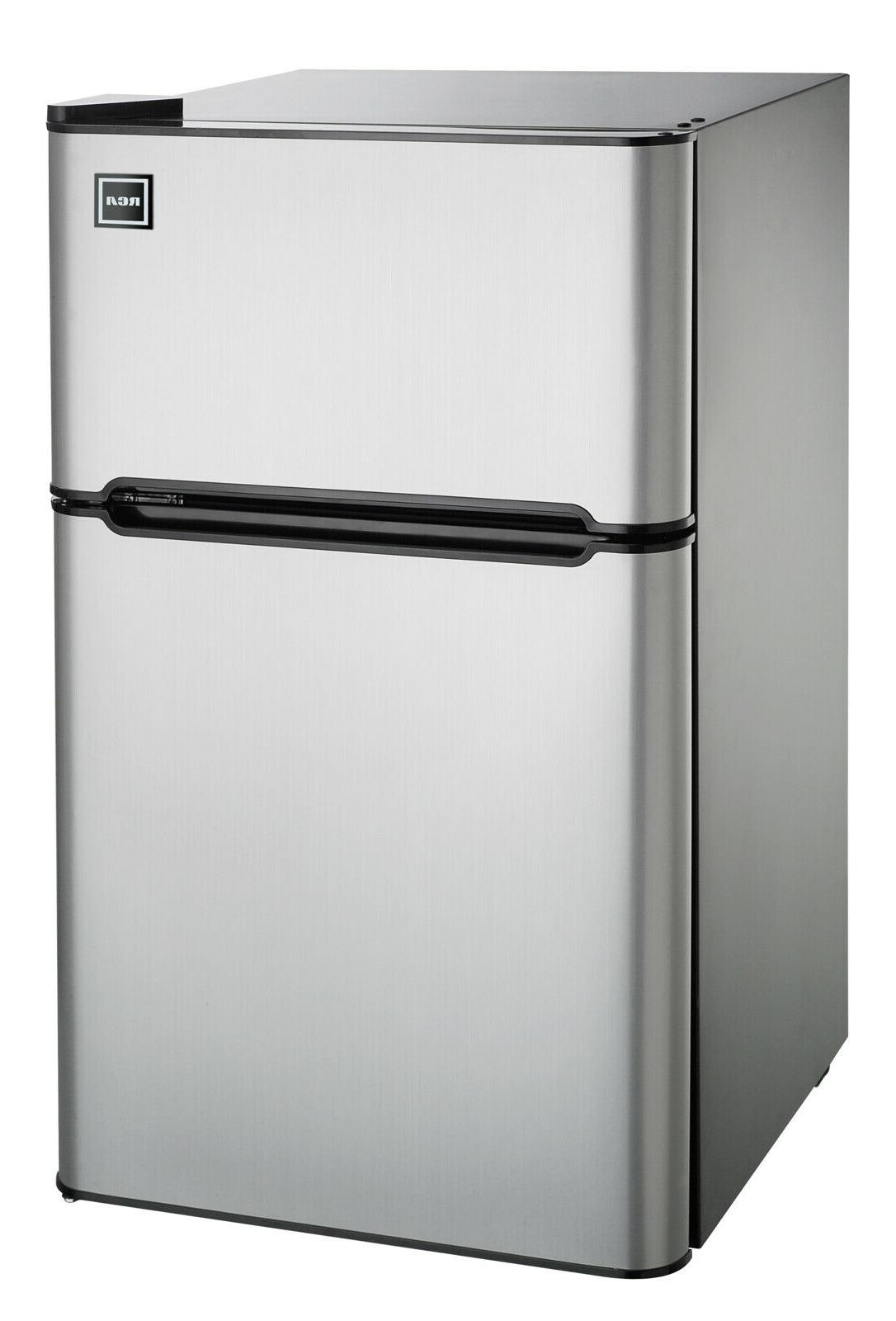 RCA Cu Two Door with Freezer Stainless Steel