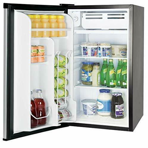 RCA 3.2 Ft Fridge Freezer, Platinum-Stainless
