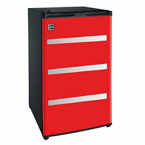 Red Garage Fridge Tool Box, 3.2 Cubic Feet