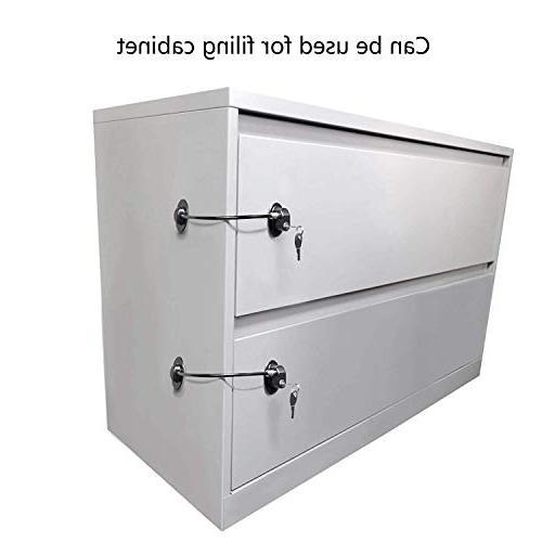 Locks,Freezer Locks,File Cabinet Locks REZIPO White