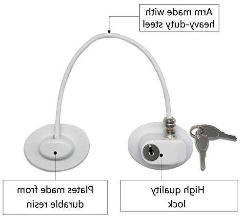 2 Refrigerator Locks,Freezer Door Locks,File Drawer Cabinet by REZIPO White with