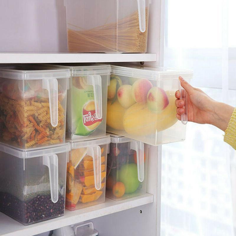 Plastic Storage Bins Refrigerator Storage Box Food Container