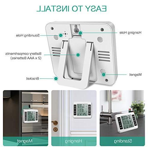 ORIA Refrigerator Digital Freezer 2 Alarm, Record, Display for Home, Bars, Cafes