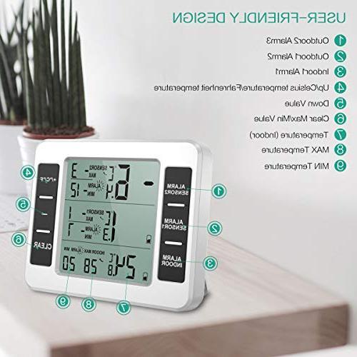 ORIA Refrigerator Digital Freezer 2 Wireless Display for Restaurants, Bars,