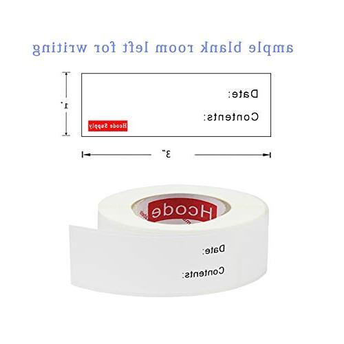 Hcode x Removable Labels Cooler Food Stickers Labels Restaurant Quality Freezer Paper Labels 300 Roll