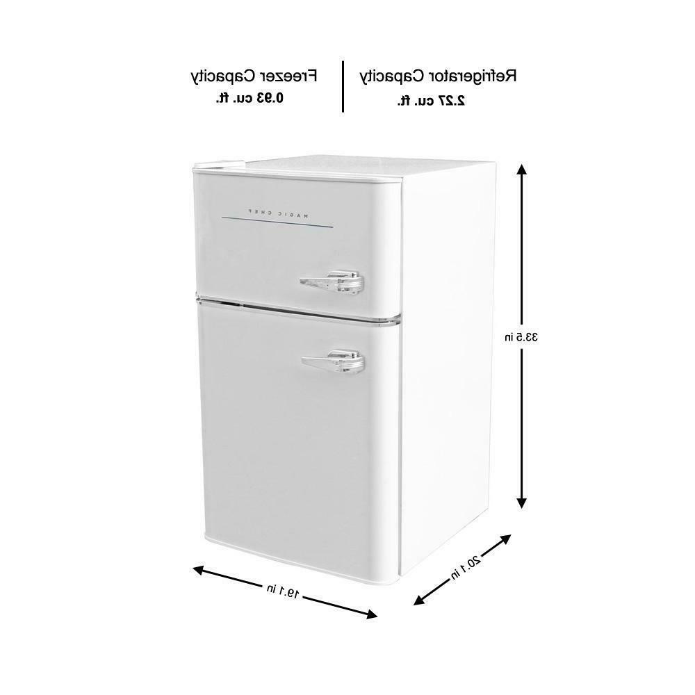 Retro Mini Refrigerator 3.2 cu ft 2-Door Office