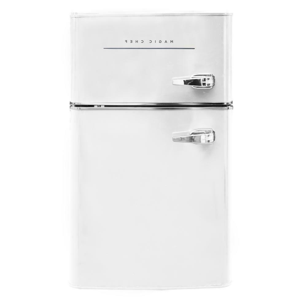 Retro Mini Fridge Refrigerator 2-Door Dorm