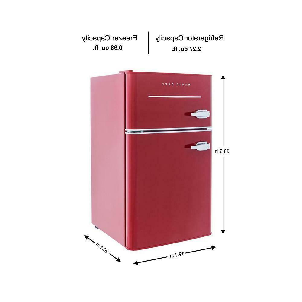 Retro Refrigerator 2-Door Home Dorm