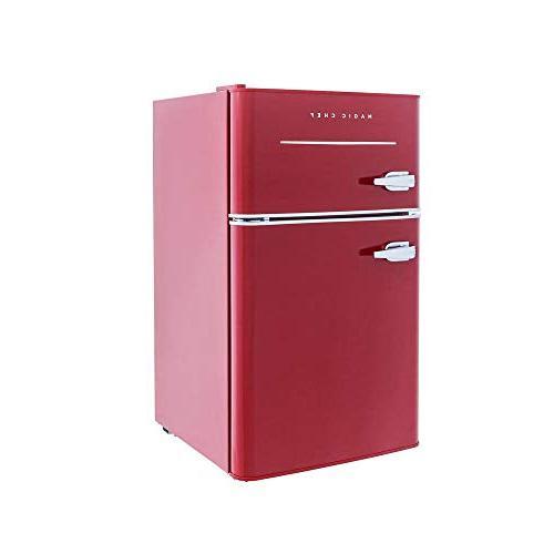 Magic Chef Retro Mini Refrigerator 3.2 2-Door Fridge in