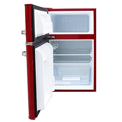 Magic Retro Refrigerator 3.2 2-Door Fridge in