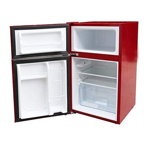 Magic Retro Mini Refrigerator 2-Door Fridge in