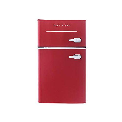 Magic Chef Refrigerator ft. 2-Door Fridge in Red