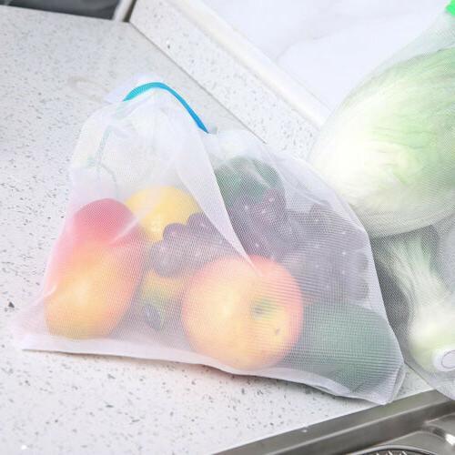 Reusable Drawstring Storage Kitchen Ziplock Bags
