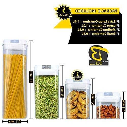 Food Storage Containers Airtight Leak with Durable Plastic Free & Dishwasher Safe Food with Easy Lock
