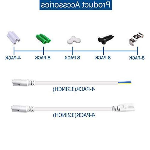 8Ft LED Shop Light Fixture, Tube Light, Double Row V 270 Degree Lighting Bulbs Garage Warehouse Workshop Basement, Plug Play