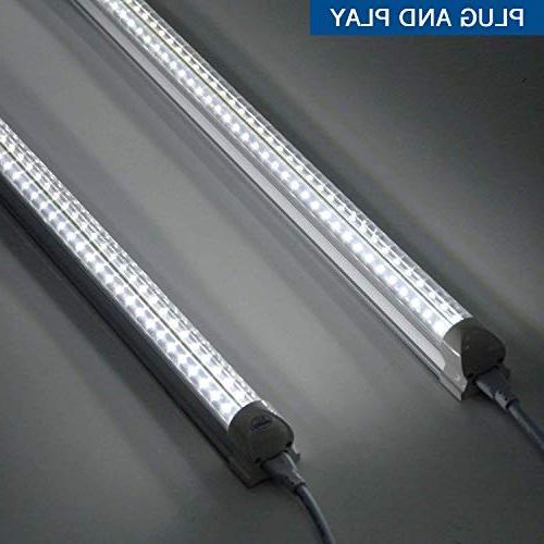 Fixture, Integrated LED Tube Light, Double 270 Degree Bulbs Workshop Plug