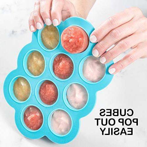 Tray with by WeeSprout Perfect Storage Baby Vegetable & Fruit Purees and Breast Milk &