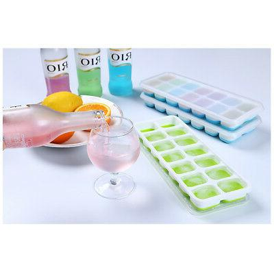 Silicone Box With Lid Drink Jelly Freezer Mold Mould