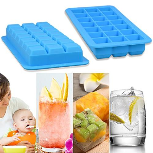 Korlon 3 Ice Lid Easy Release Ice Mold - Silicone Maker Cocktail 21 Shaped with Cover