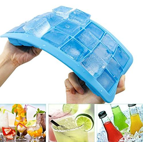 Korlon Ice Cube Trays with Ice Cube Mold - Silicone Maker for Whiskey, 21 Shaped with