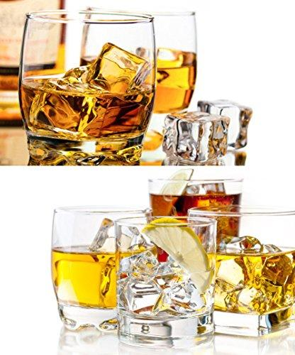 Ice Cube Trays Lid - Easy Ice Cube Mold - Silicone Maker Cocktail Whiskey, 21 Shaped Cubes Each with