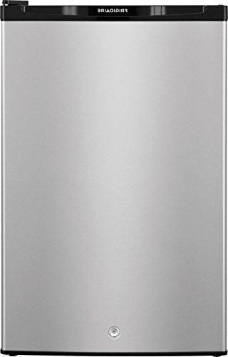 silver compact refrigerator