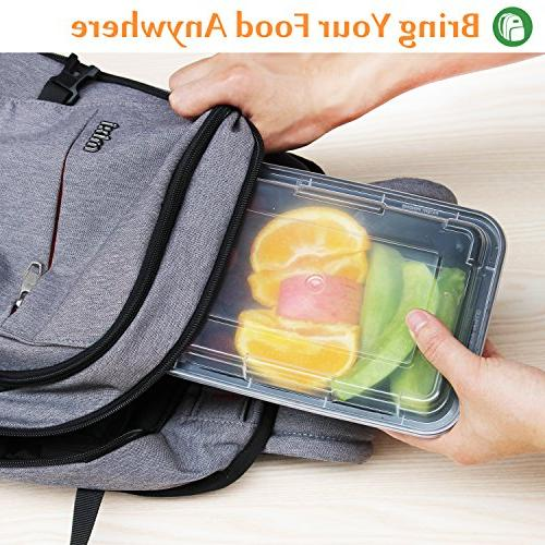 Enther Prep Single Compartment Lids, Storage Bento Box | Free | Lunch Control