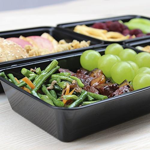 Enther Prep Single Lids, Food Storage Bento Box BPA Free | Stackable Lunch Microwave/Dishwasher/Freezer Control