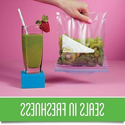 Ziploc Slider Food Storage Freezer Bag Zip Lock Plastic Travel Gallon Size 84 Ct