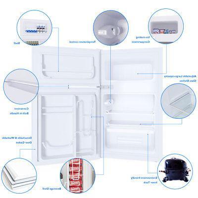 Stainless Small Freezer 3.2 cu