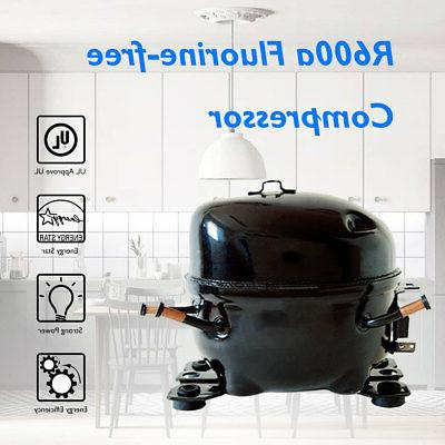 Stainless Steel Refrigerator Small Freezer Cooler Fridge 3.2