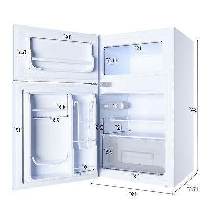 Stainless Refrigerator Freezer Cooler 3.2 cu ft. Unit