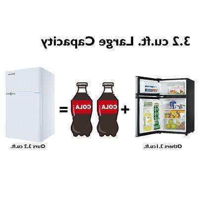Stainless Freezer Fridge 3.2 cu